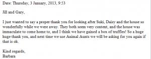 ..next time we use Animal Aunts