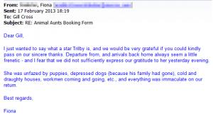 dog sitter 'unfazed'
